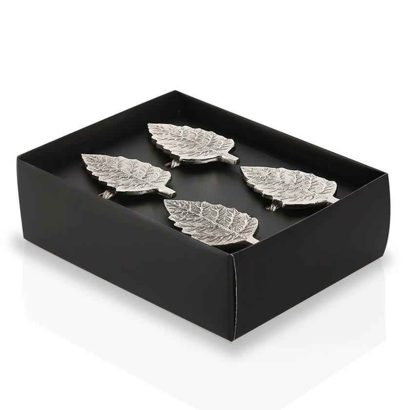 Amelia Napkin Rings, Silver – Set of 4