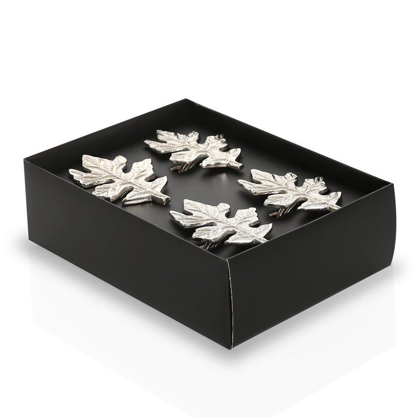Maui Napkin Rings, Silver - Set of 4