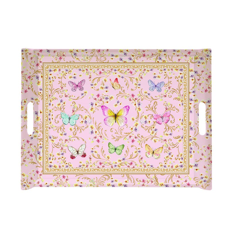 Majestic Butterfly Tray, Multicolour – 52x37cms