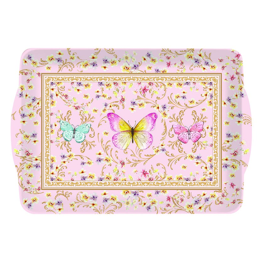 Majestic Butterfly Tray, Multicolour – 32x22cms