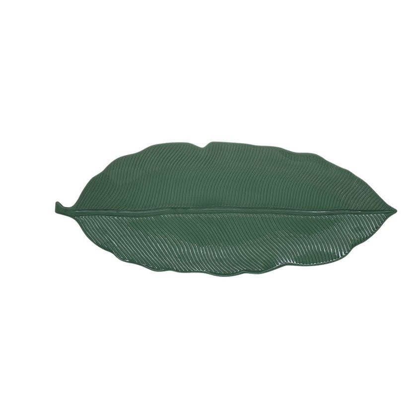 Tropical Leaves Platter, Green - Small