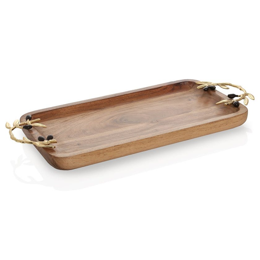 Campbell Wooden Rectangular Tray, Large