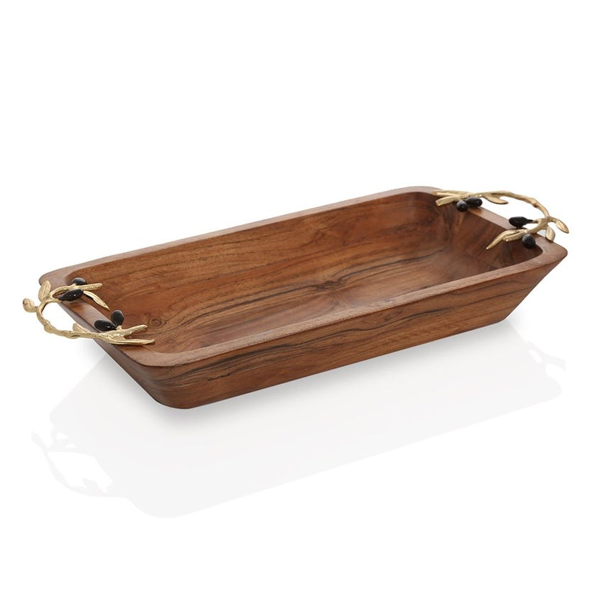 Campbell Wooden Rectangular Dish, Large