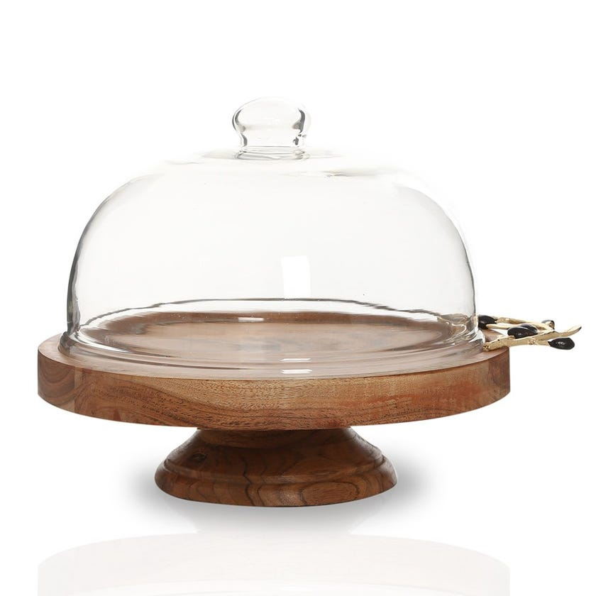 Campbell Wooden Domed Cake Stand
