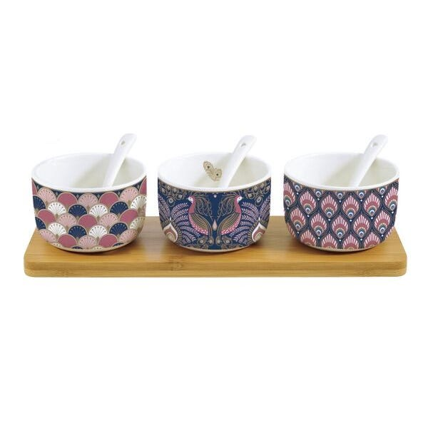 Peacock Atmosphere Dipping Set, Multicolour