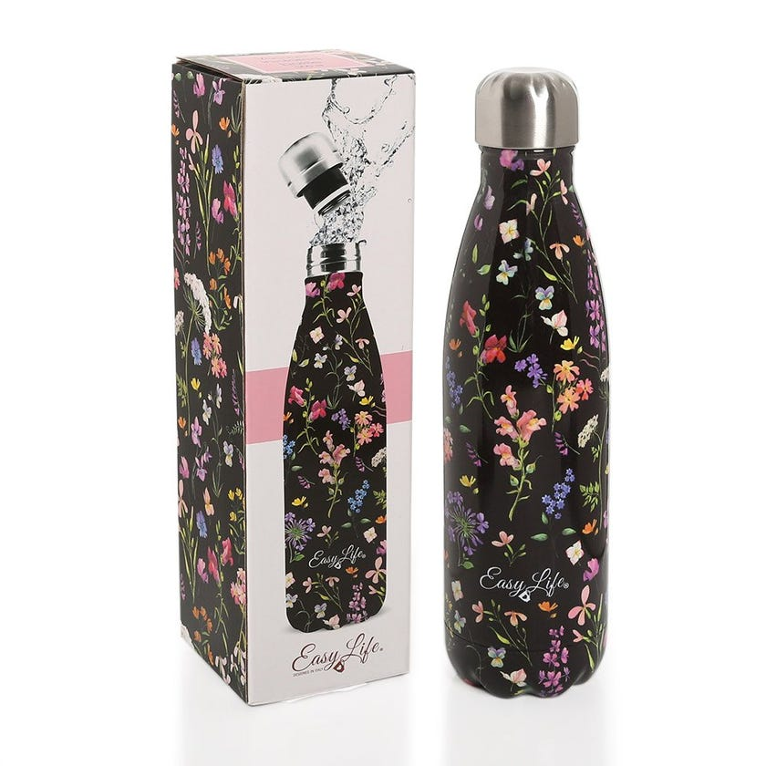 Meadow Flower Vacuum Insulated Bottle, Multicolor - 500ML