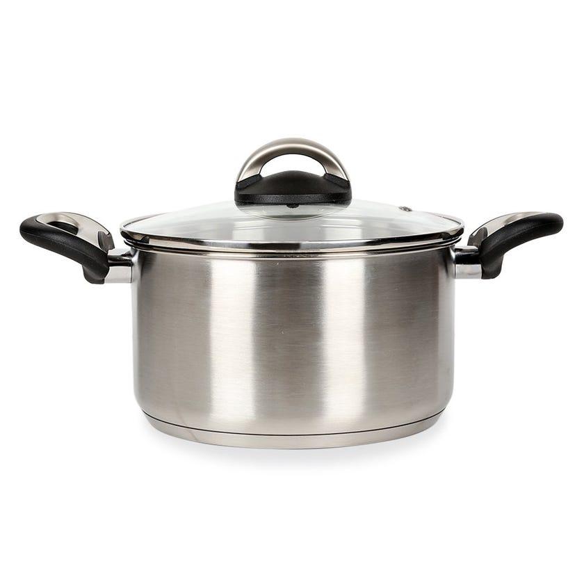 Pal Titanium Cooking Pot, Silver – 28 cms