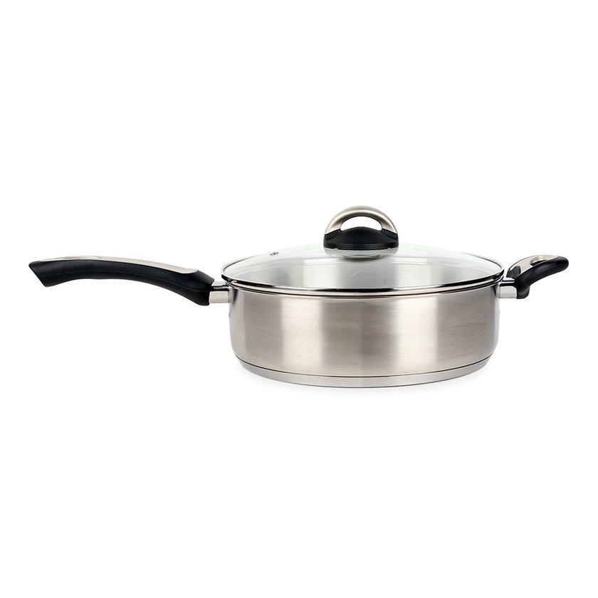 Pal Titanium Sauteuse Pot, Silver – 26 cms