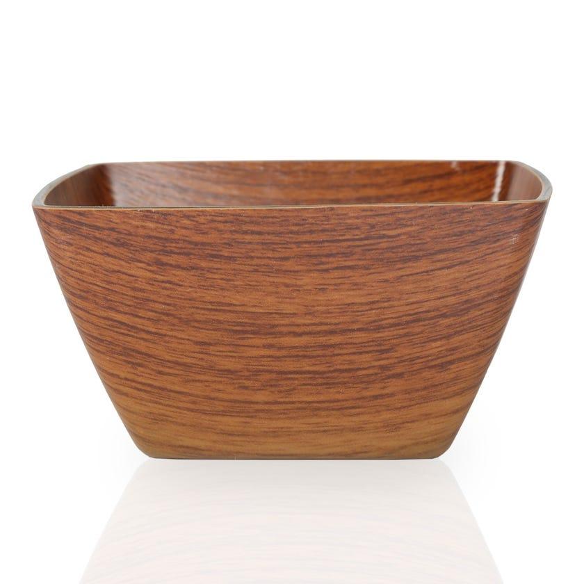 Eva Polystyrene Midi Square Bowl, Mahogany - 16 cms