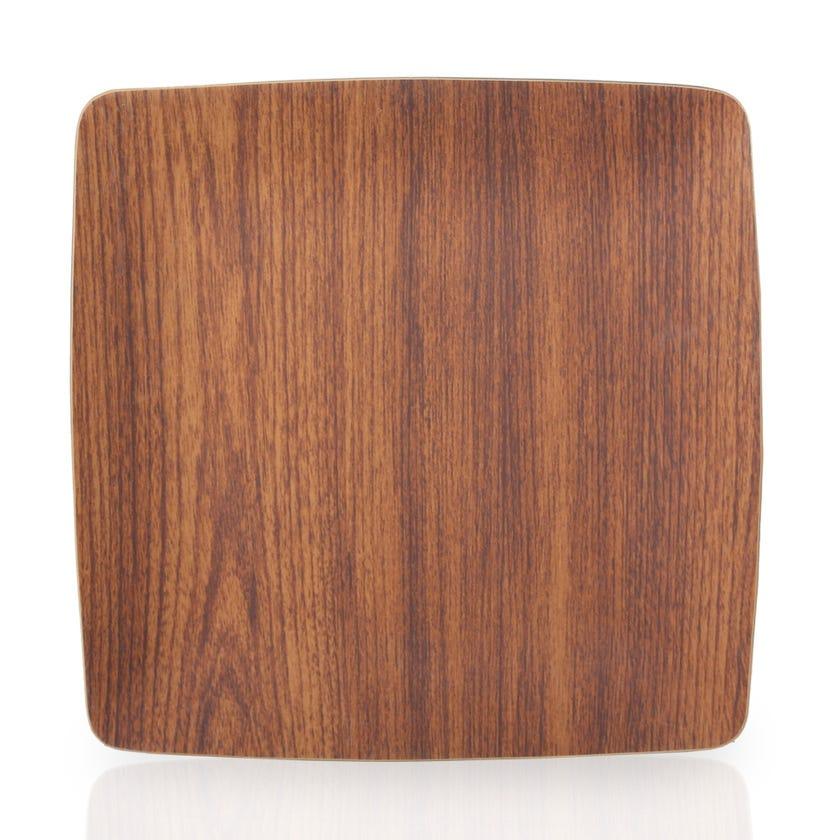 Eva Polystyrene Square Plate, Mahogany - 26.5 X 26.5 cms