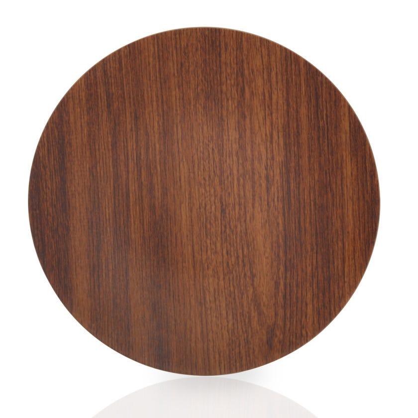 Eva Polystyrene Round Plate, Mahogany - 23.5 cms