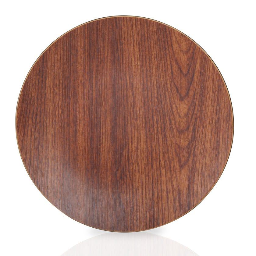 Eva Polystyrene Round Plate, Mahogany - 26.5 cms
