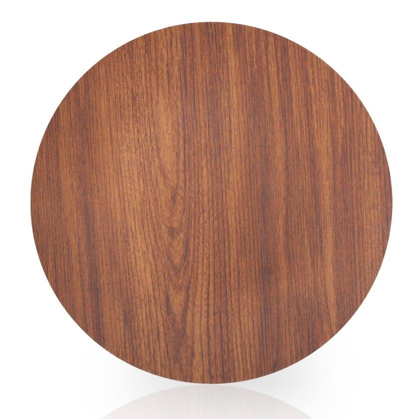 Eva Polystyrene Round Plate, Mahogany - 31 cms