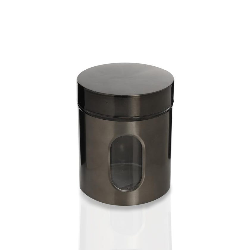 Glass Storage Jar with Lid - Clear/SS Coating