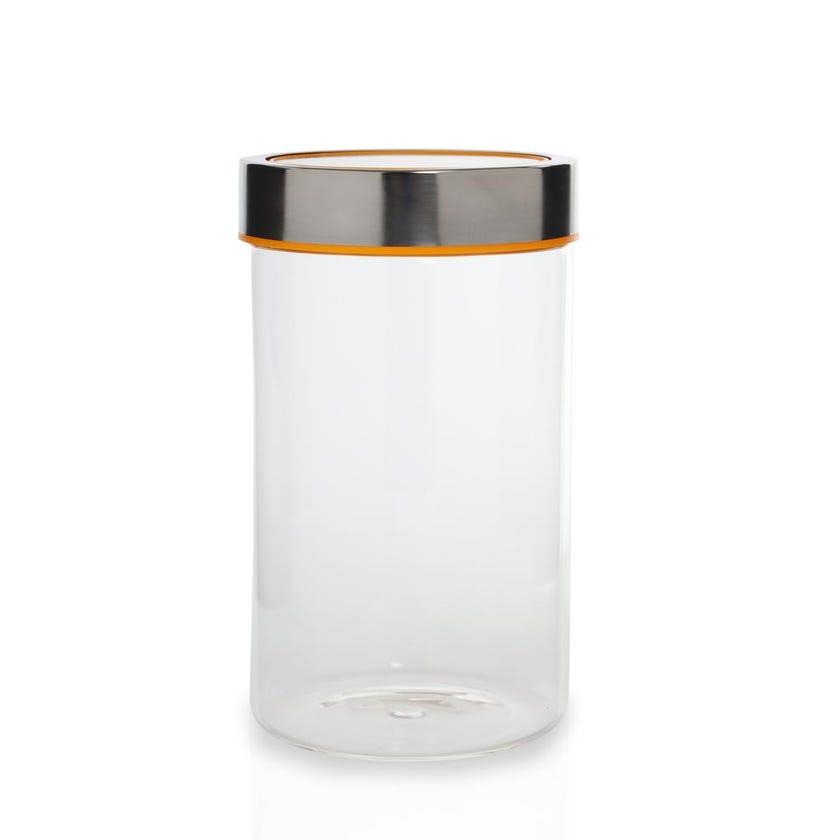 Round Glass Jar - Clear, Medium