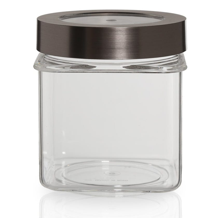 Square Canister with Satin Lid - Small