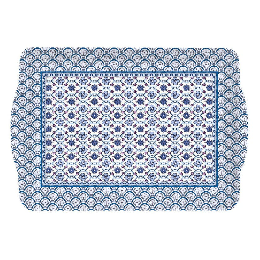 Mobl Plastic Tray with Handles, Blue - 33 x 22