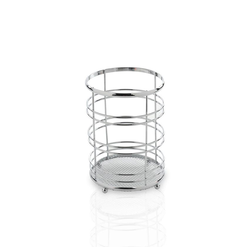 Chrome Plated Metal Cutlery Holder