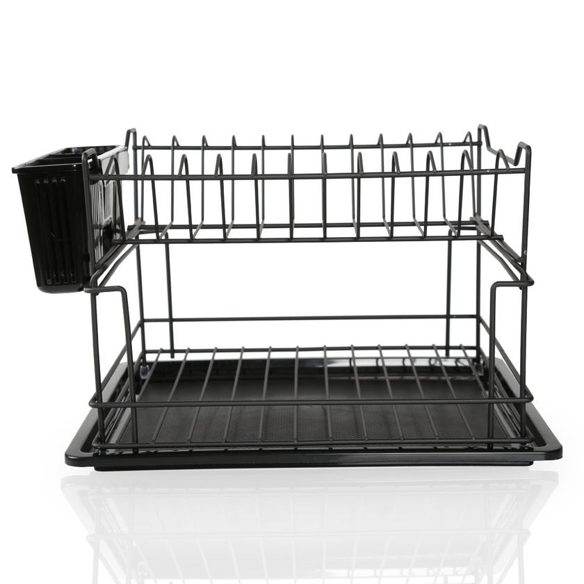 2-Layer Dish Drainer, Matte Black