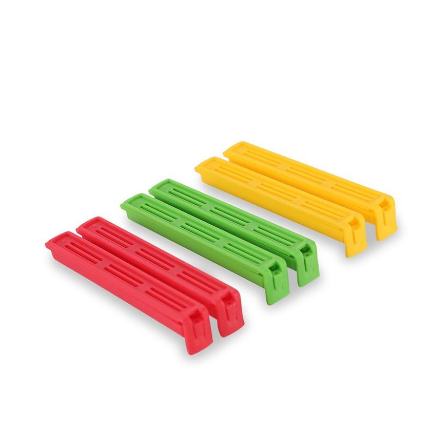 Set 6-piece Bag of Clips - Medium, 11 cm