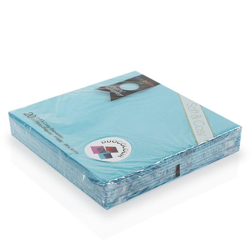 Lagoon Paper Napkin - Blue, 38 x 38 cms