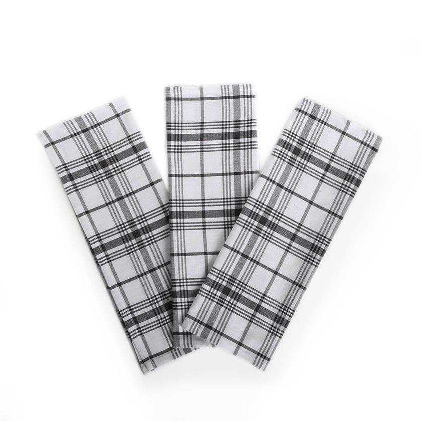 Scott Kitchen Towels, Black & White - Set of 3