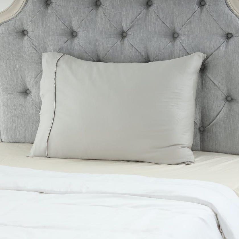 Bamboo Pillowcase Set, Quiet Grey – 75x50 cms