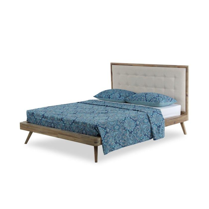 Kalampur 3-Piece Queen Size Printed Bedsheet Set - 228 X 259 cms