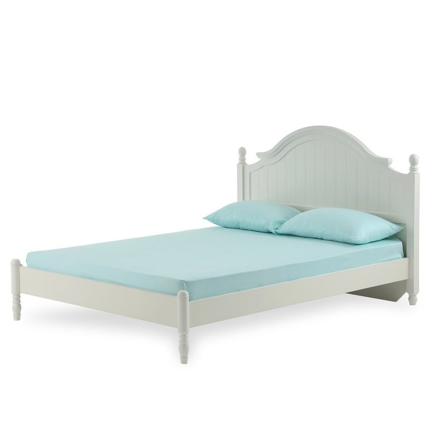 Floral Cloud Super King Fitted Sheet ,210 TC - 200 x 200 cms