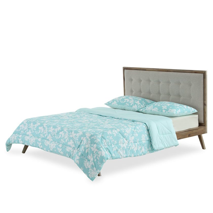 Floral Cloud Queen Comforter ,210 TC - 230 x 220 cms