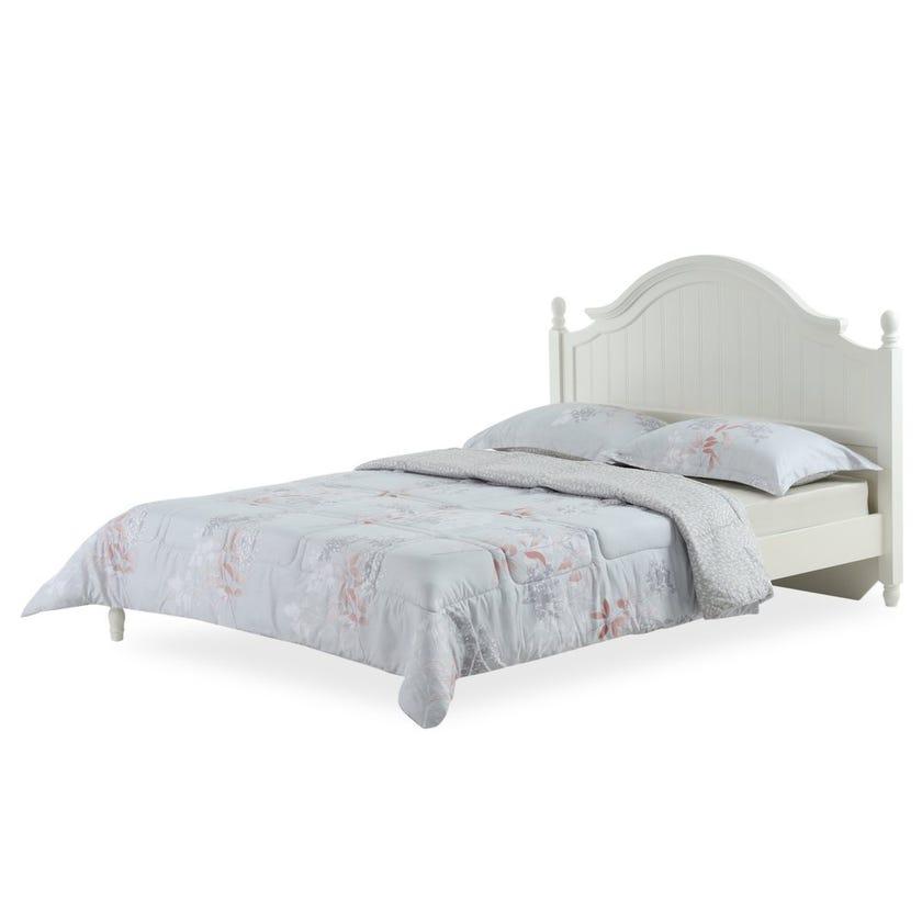 Resort Printed Comforter Set, 230 x 220 cms - Light Grey