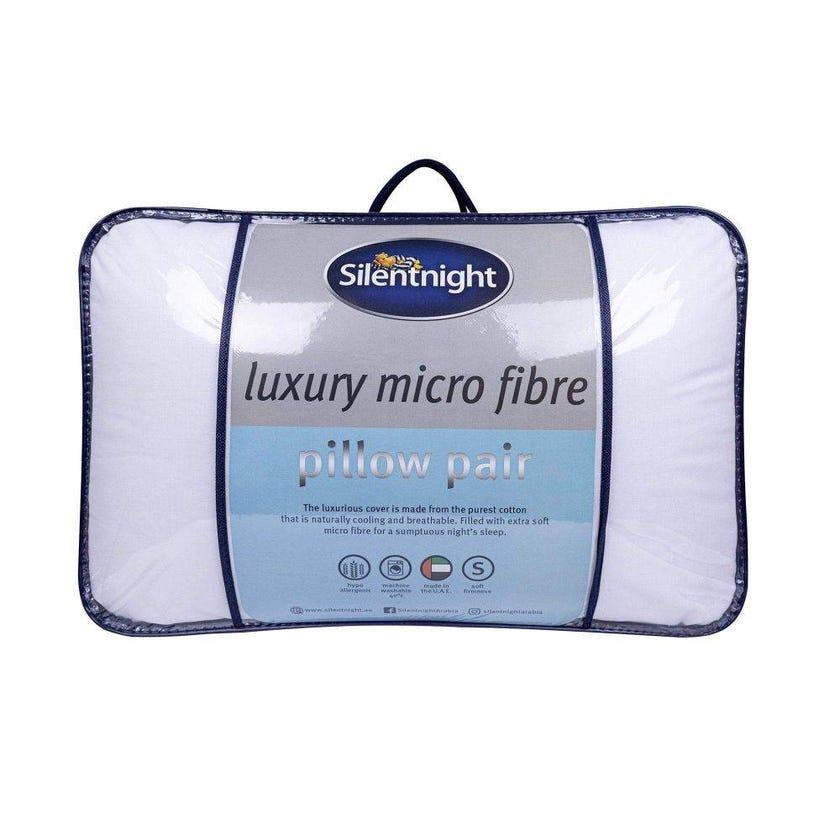 Silentnight 2-piece Microfiber Pillow, White - 74x48 cms, 1200 gms