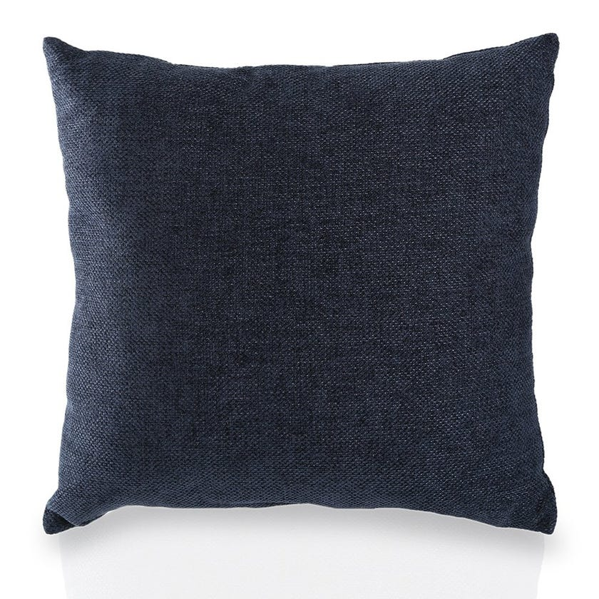 Small Chenille Cushion (Navy, Polyester, 45 x 45 cms)