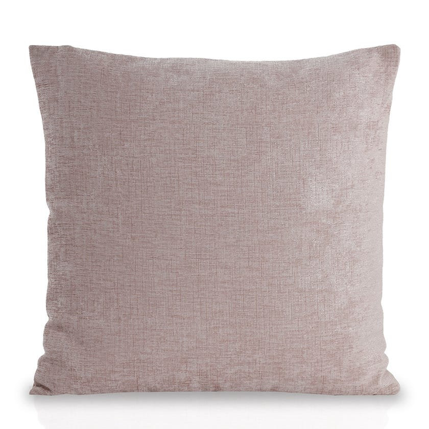 Small Chenille Cushion (Pale Pink, Polyester, 45 x 45 cms)