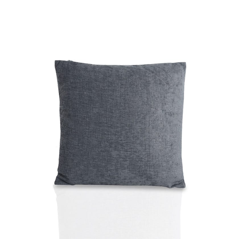 Small Chenille Cushion (Slate, Polyester, 40 x 40 cms)