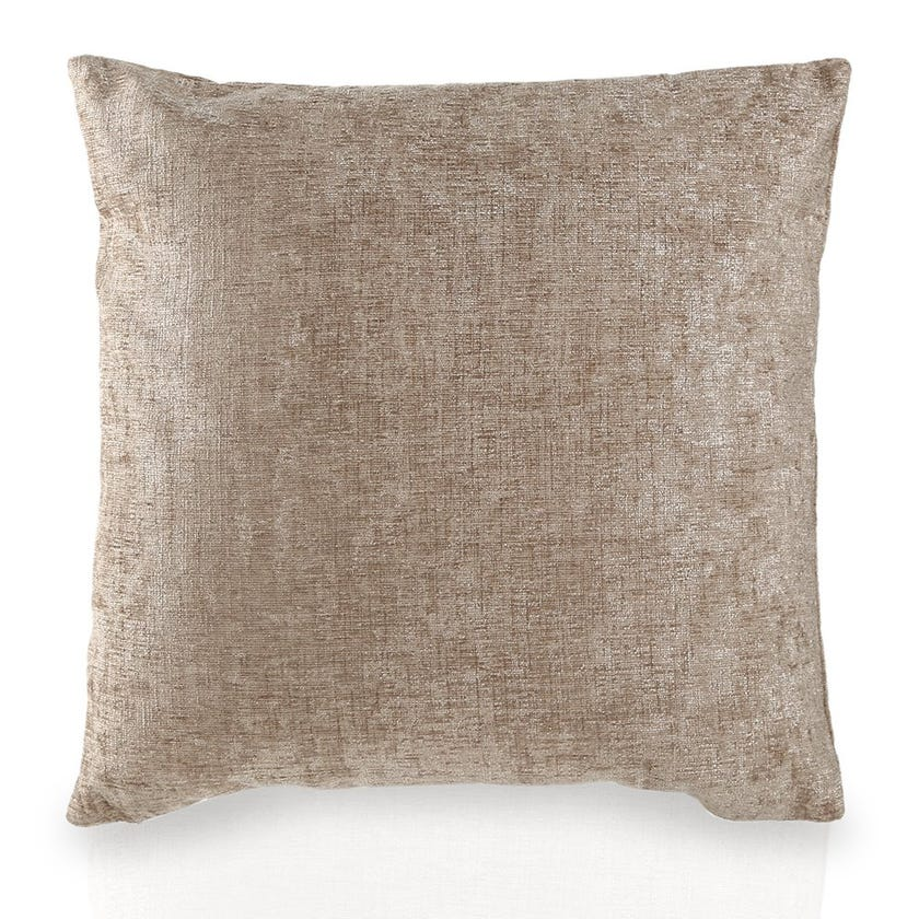 Small Chenille Cushion (Taupe, Polyester, 45 x 45 cms)