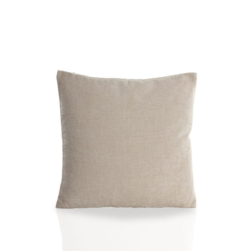 Small Chenille Cushion (Cream, Polyester, 45 x 45 cms)