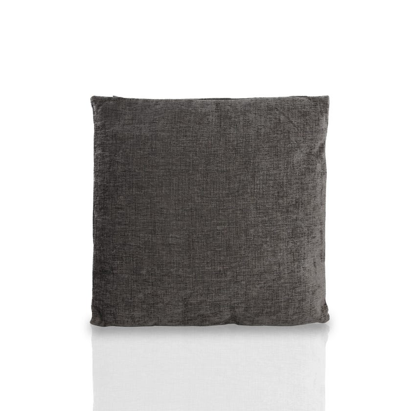 Small Chenille Cushion (Grey, Polyester, 45 x 45 cms)