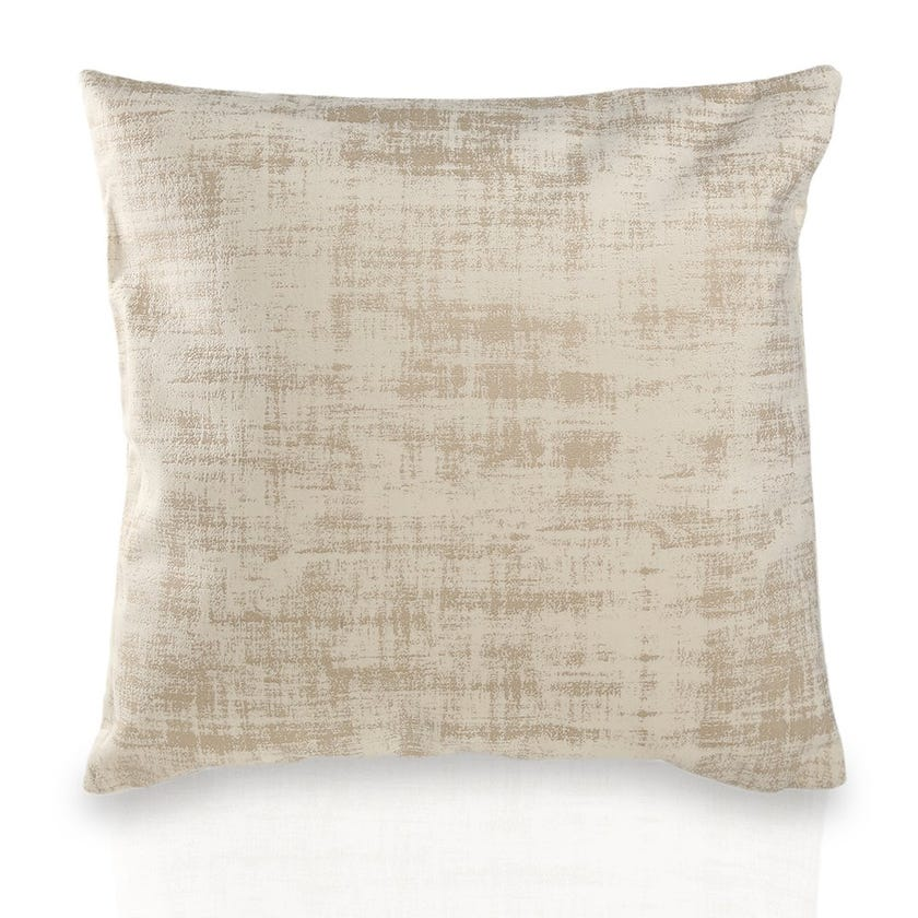 Small Chenille  Embossed Cushion (Cream, Polyester, 45 x 45 cms)
