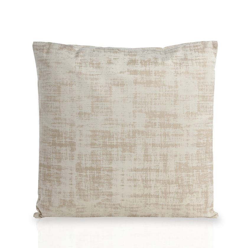 Large Chenille Embossed Cushion (Cream, Polyester, 60 x 60 cms)