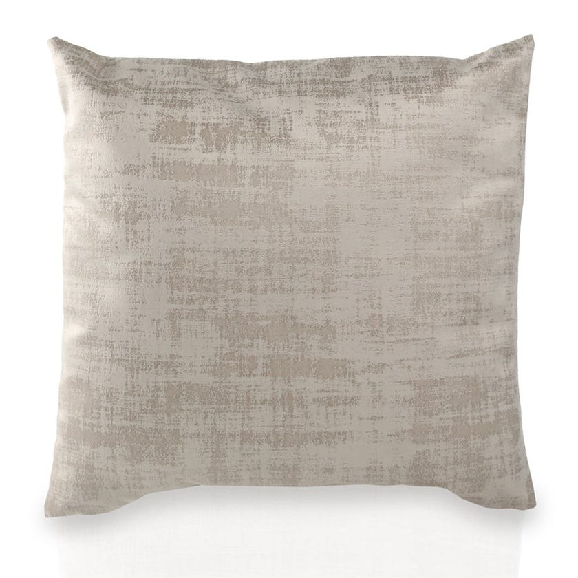 Small Embossed Chenille Cushion (Grey, Polyester, 45 x 45 cms)