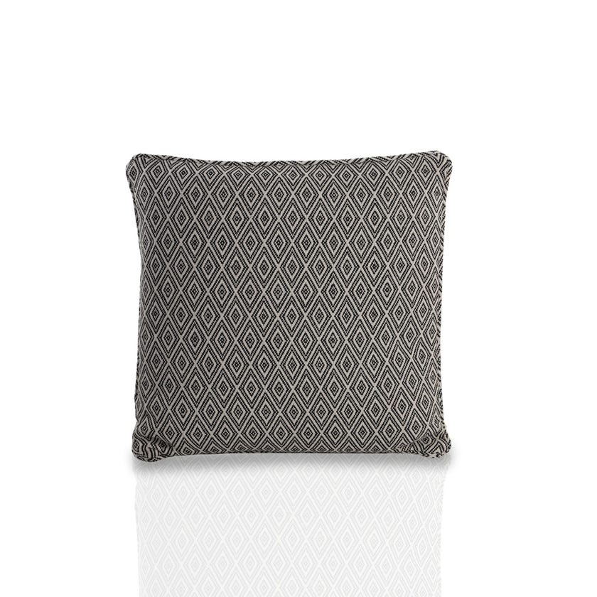 Small Oslo Cushion (Black, Polyester, 45 x 45 cms)