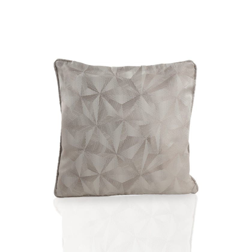 Chinoiserie Polyester Cushion Cover, 45 x 45 cms, Silver