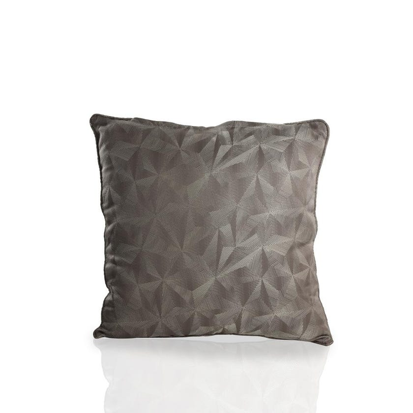 Chinoiserie Polyester Cushion Cover, 60 x 60 cms, Grey
