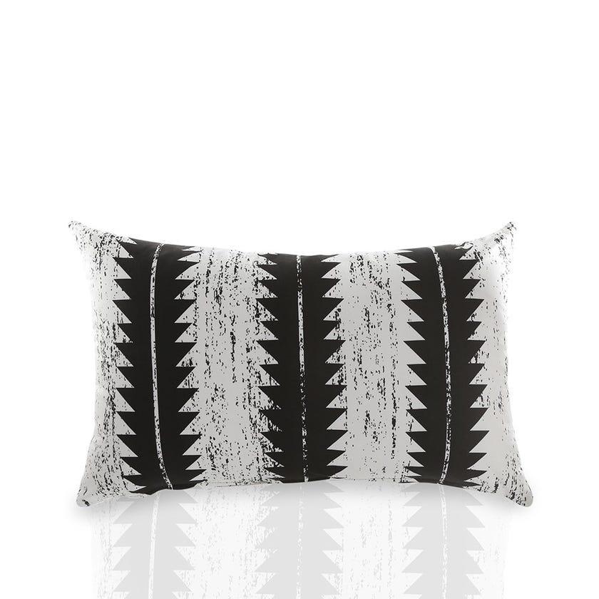 Monochrome Cushion Cover, White & Black – 40x70 cms