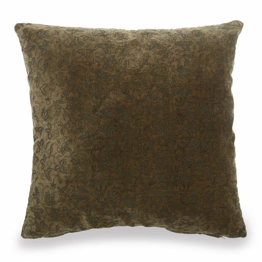 Eden Velvet Cushion Cover, Green – 45x45 cms