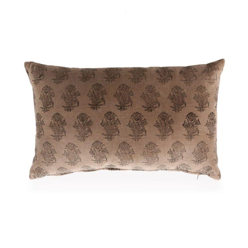 Rose Velvet Cushion Cover, Beige – 30x50 cms