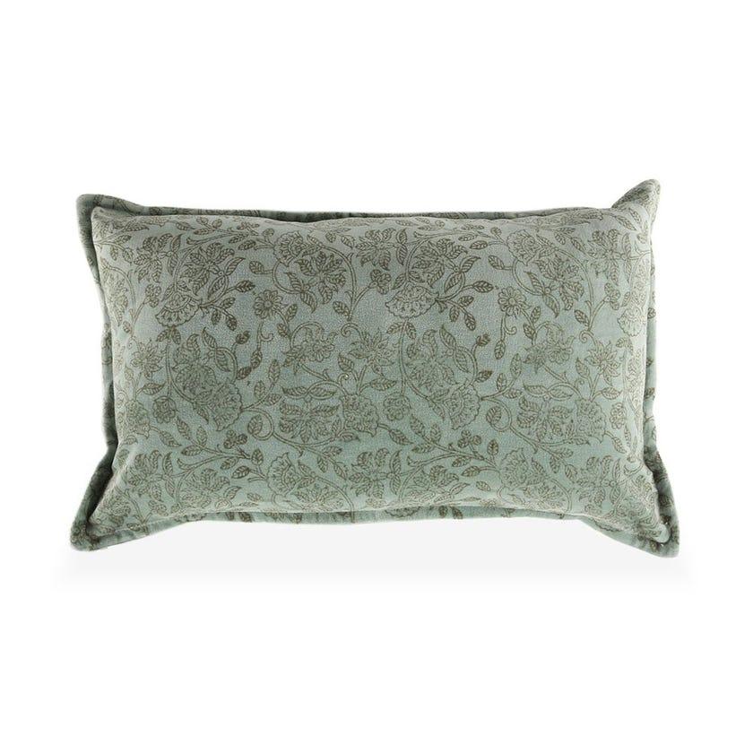 Garden Velvet Cushion Cover, Blue – 30x50 cms