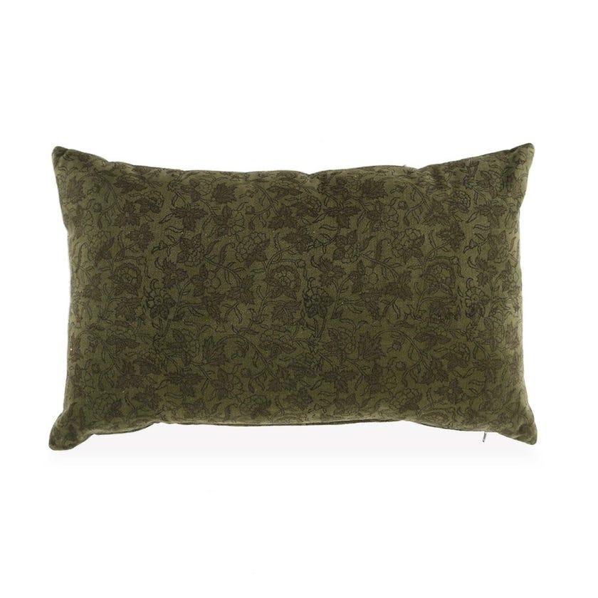 Eden Velvet Cushion Cover, Green – 30x50 cms