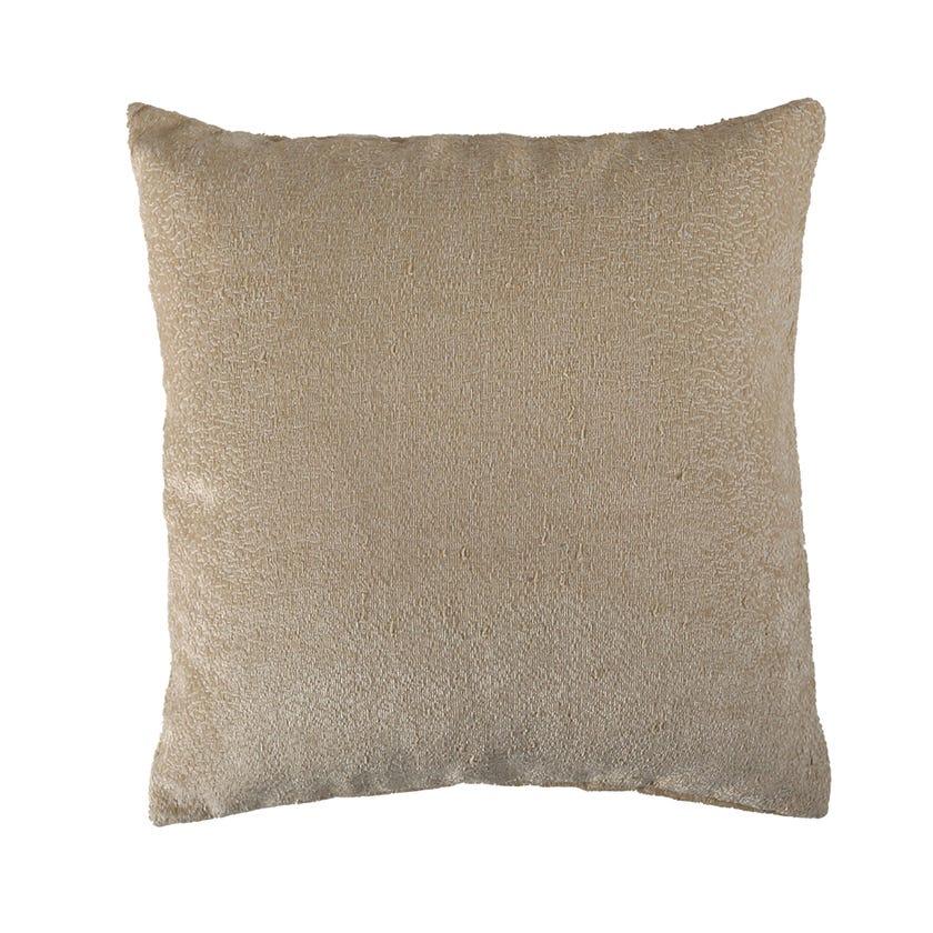 Sack Chenille Cushion Cover, Beige – 45x45 cms